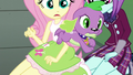 Puppy Spike jumps out of Fluttershy's arms EG3.png
