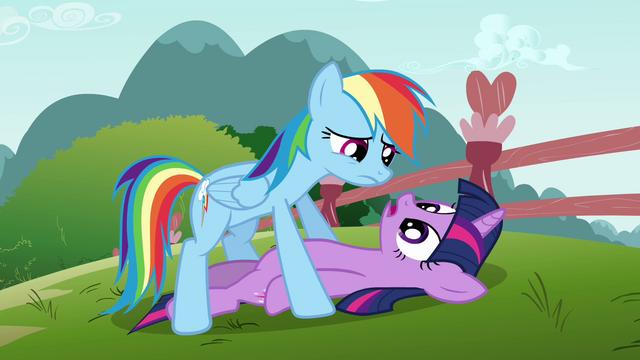 File:Rainbow Dash over Twilight S3E5.png
