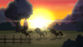 CMC running with sunset in the background S4E05.png
