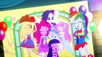 Final shot of Mane Six laughing together SS2