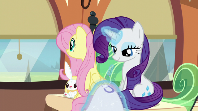 File:Fluttershy window-gazes while Rarity sews S6E1.png