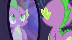 Spike looking at a mirror S2E21