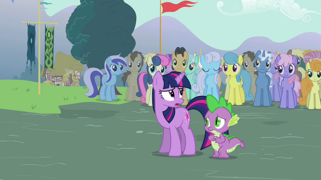 File:Twilight and Spike arrives S3E05.png