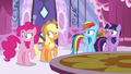 Main ponies looking at Fluttershy S6E9.png