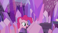 Pinkie Pie looking for the obsidian S5E20