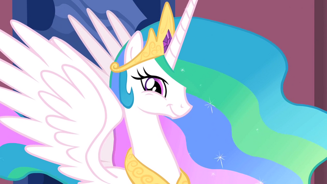 File:Princess Celestia smiling S2E02.png