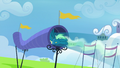 Sky Stinger flying through a wind tube S6E24.png
