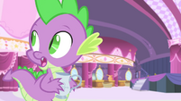 Spike calling Rarity S4E13