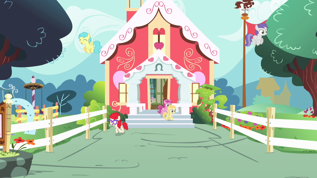 mlp background test 2 ponyville house by