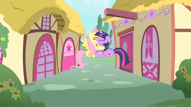 File:Twilight and Fluttershy collide S01E22.png