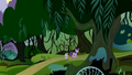 Twilight and Spike walking into the Everfree Forest S4E03.png