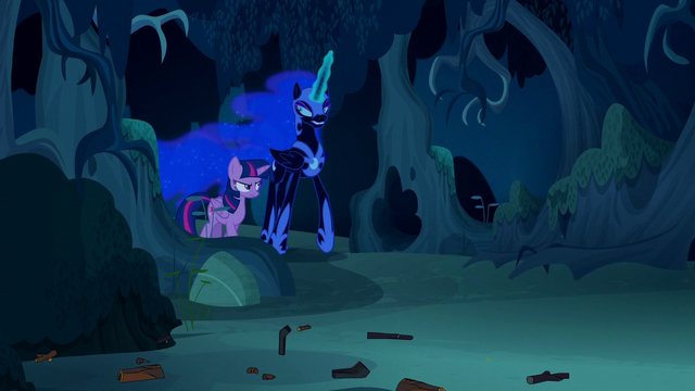 File:Twilight walking with Nightmare Moon S5E26.png
