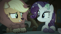 Applejack and Rarity feeling awkward S5E21