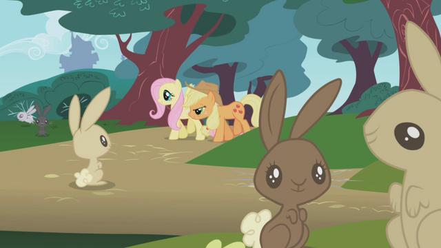 File:Applejack helping Fluttershy S1E04.png