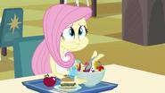 Fluttershy eating her lunch EG