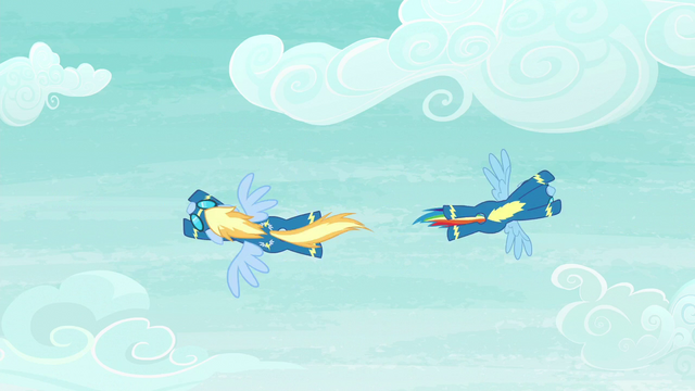 File:Rainbow and Lightning Streak swerve past each other S6E7.png