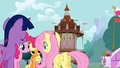 4 of the Mane 6 gathered in Ponyville S1E19.png