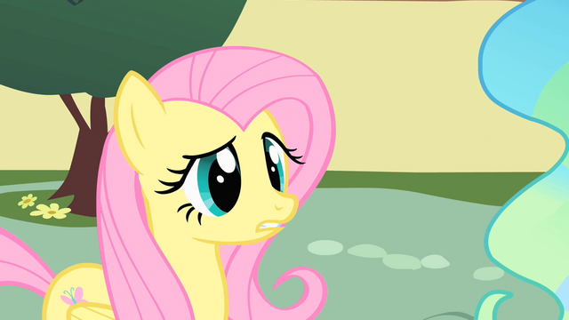 File:Fluttershy in front of Princess Celestia S1E22.png