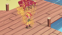 Sunset Shimmer glowing with magic EG4