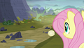 Fluttershy looking at the barren valley S5E23.png