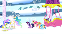 Princess Celestia congratulates Rainbow Dash S01E16