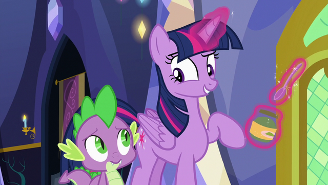 "File:Twilight Sparkle ""I just have to feed her"" S7E3.png"