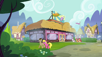 CMC walking to the Hay Burger S4E15