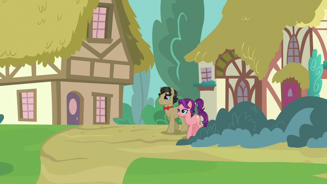 File:Filthy and Spoiled walking to the Ponyville Hospital S6E23.png
