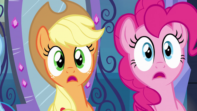 File:Applejack and Pinkie Pie listening EG.png