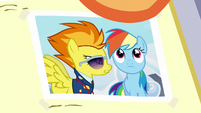 Close-up on photo of Rainbow and Spitfire S7E7