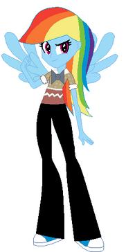 FANMADE Rainbow Dash Human Nerd