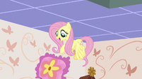 Fluttershy dropping the throw pillow S7E12