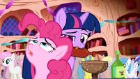 Pinkie Pie explaining the party to Twilight Sparkle S1E1