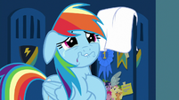 Rainbow Dash crying tears of remorse S7E7