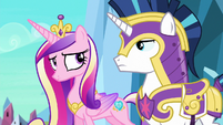 Shining Armor and Cadance nod to each other S6E16