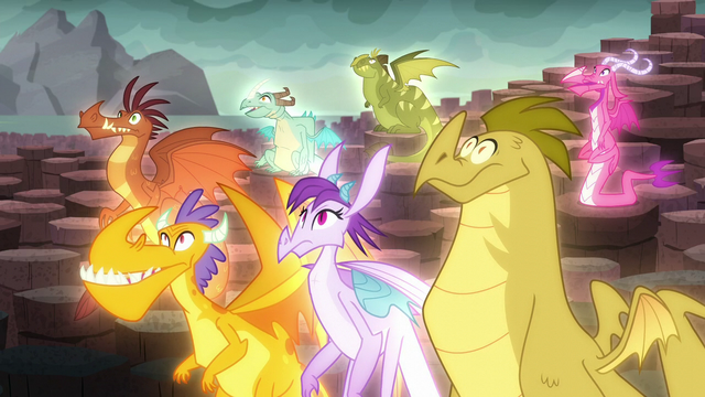 File:The dragons hear Torch's command S6E5.png