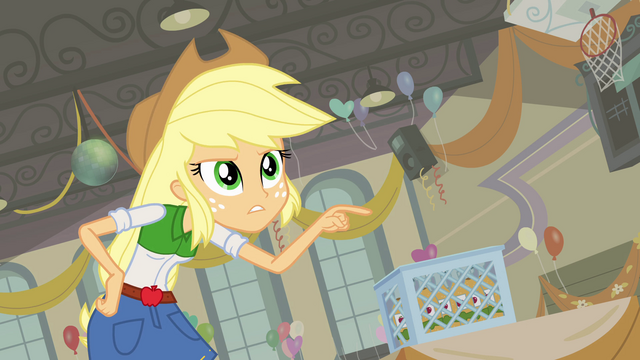 "File:Applejack's warning ""think twice about that"" EG.png"