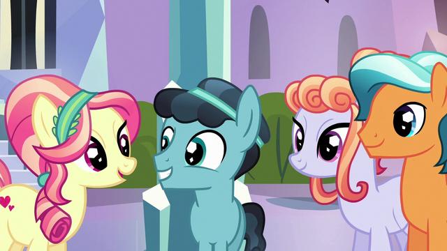 File:Crystal Hoof meeting more Crystal Ponies S6E16.png