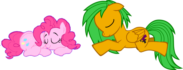 File:FANMADE B-mon and PinkiePie sleepy....png