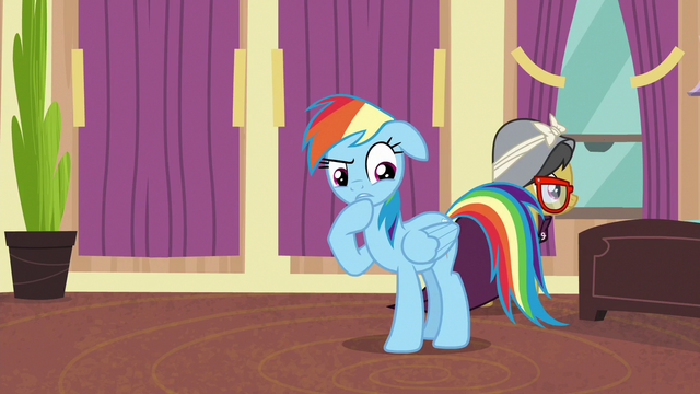 "File:Rainbow Dash ""there is a pony downstairs"" S6E13.png"