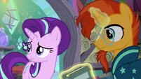 Starlight and Sunburst hears Spike S6E2