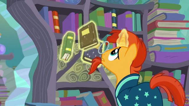 File:Sunburst levitates the books into the bookshelves S6E2.png