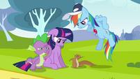 Twilight & Rainbow Dash hear squirrel S2E22