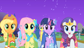 "Applejack, Fluttershy, Twilight, and Rarity ""find my prince"" S01E26.png"