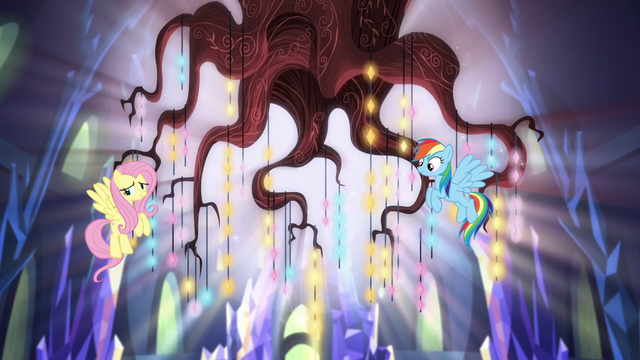 File:Fluttershy and Rainbow beside the chandelier S5E3.png