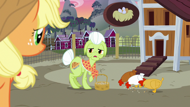 "File:Granny Smith ""where'd you all get to?"" S7E13.png"