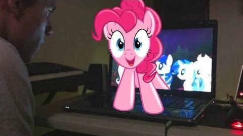 An unexpected visit from Pinkie Pie...