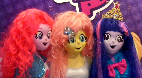 File:FANMADE Edited photo of Equestria Girls costumes (Pinkie, Fluttershy, and Twilight).png