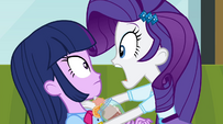 Rarity panics at Twilight EG2