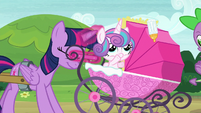 Twilight Sparkle coming to a stop S7E3